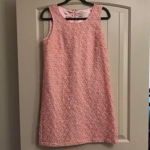 Light Pink Loft Embroidered Flower Dress- Size 6
